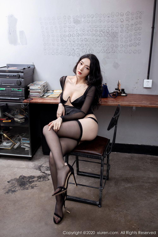 [XiuRen] Vol.1999 Xiao Re Ba 56P, Black Silk, Di Yi, Underwear, Xiuren