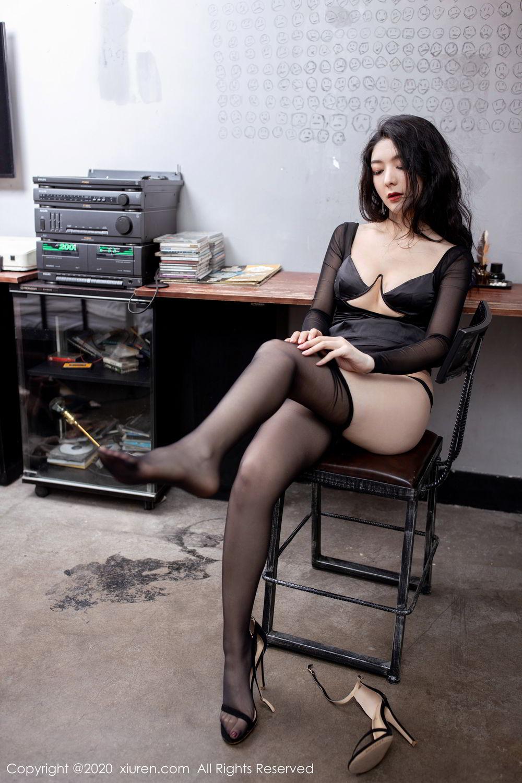 [XiuRen] Vol.1999 Xiao Re Ba 57P, Black Silk, Di Yi, Underwear, Xiuren