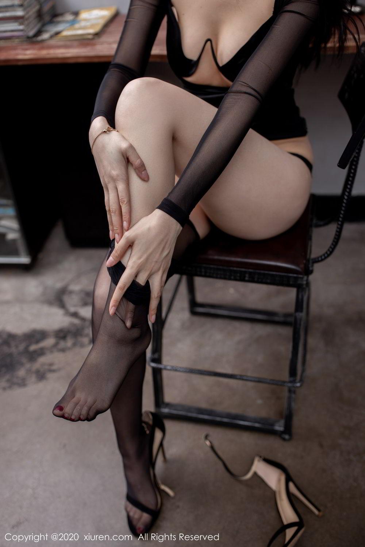 [XiuRen] Vol.1999 Xiao Re Ba 58P, Black Silk, Di Yi, Underwear, Xiuren