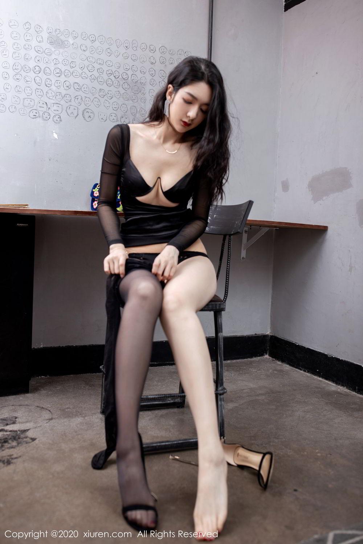[XiuRen] Vol.1999 Xiao Re Ba 61P, Black Silk, Di Yi, Underwear, Xiuren