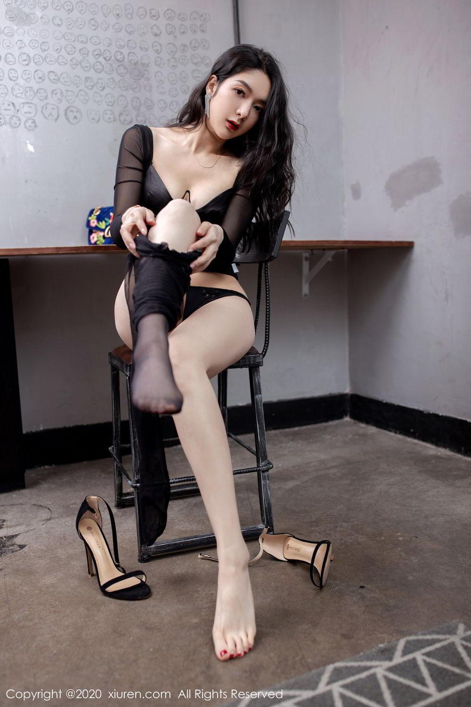 [XiuRen] Vol.1999 Xiao Re Ba 62P, Black Silk, Di Yi, Underwear, Xiuren