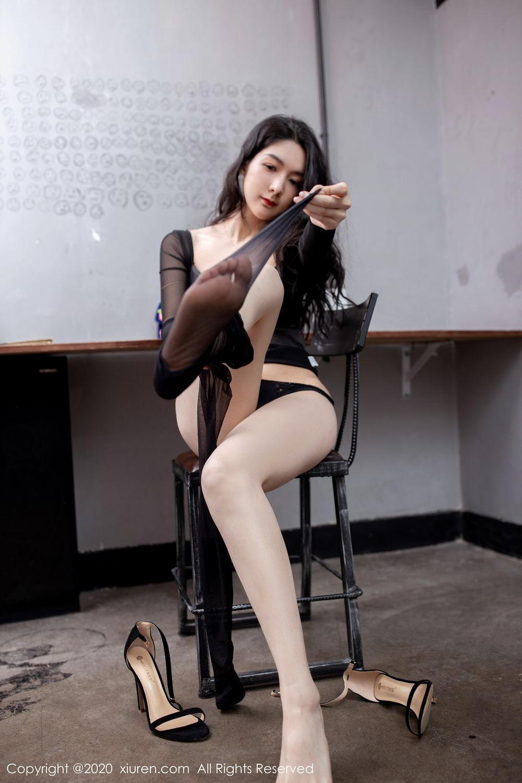 [XiuRen] Vol.1999 Xiao Re Ba 63P, Black Silk, Di Yi, Underwear, Xiuren