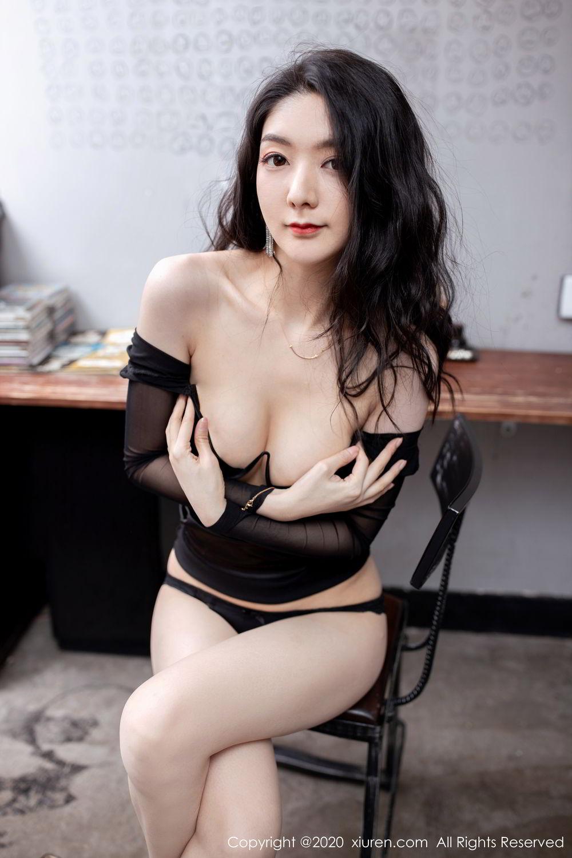 [XiuRen] Vol.1999 Xiao Re Ba 65P, Black Silk, Di Yi, Underwear, Xiuren