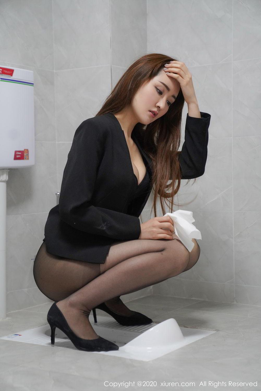[XiuRen] Vol.2017 Shen Meng Yao 19P, Black Silk, Shen Meng Yao, Tall, Uniform, Xiuren