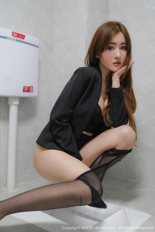 [XiuRen] Vol.2017 Shen Meng Yao 26P, Black Silk, Shen Meng Yao, Tall, Uniform, Xiuren