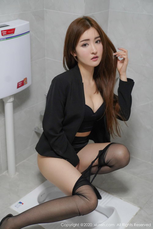 [XiuRen] Vol.2017 Shen Meng Yao 28P, Black Silk, Shen Meng Yao, Tall, Uniform, Xiuren