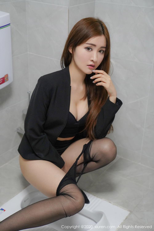 [XiuRen] Vol.2017 Shen Meng Yao 29P, Black Silk, Shen Meng Yao, Tall, Uniform, Xiuren
