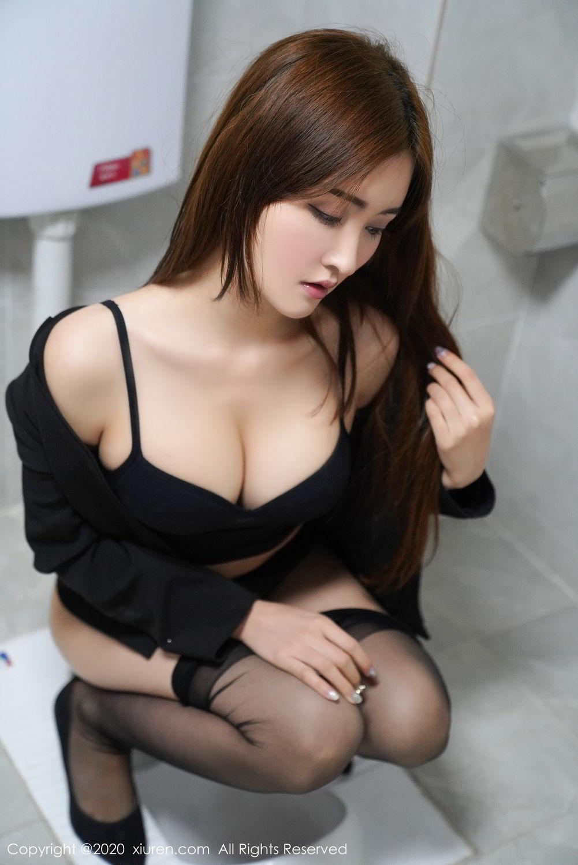 [XiuRen] Vol.2017 Shen Meng Yao 32P, Black Silk, Shen Meng Yao, Tall, Uniform, Xiuren