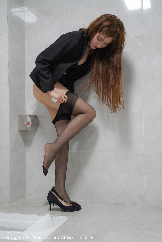 [XiuRen] Vol.2017 Shen Meng Yao 33P, Black Silk, Shen Meng Yao, Tall, Uniform, Xiuren