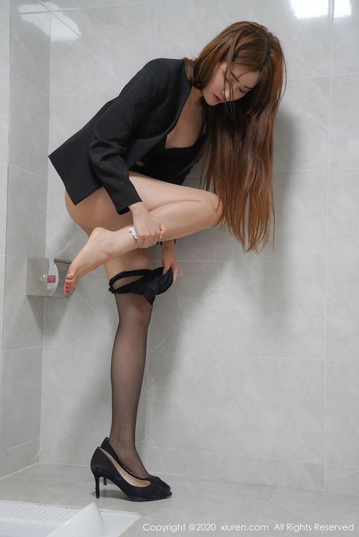 [XiuRen] Vol.2017 Shen Meng Yao 37P, Black Silk, Shen Meng Yao, Tall, Uniform, Xiuren