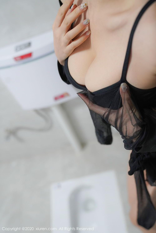 [XiuRen] Vol.2017 Shen Meng Yao 41P, Black Silk, Shen Meng Yao, Tall, Uniform, Xiuren