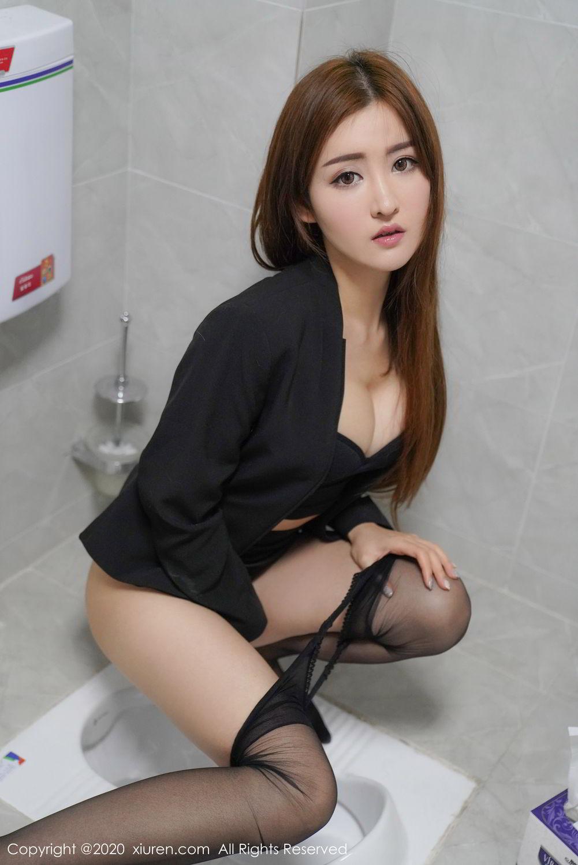 [XiuRen] Vol.2017 Shen Meng Yao 43P, Black Silk, Shen Meng Yao, Tall, Uniform, Xiuren