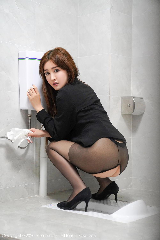[XiuRen] Vol.2017 Shen Meng Yao 45P, Black Silk, Shen Meng Yao, Tall, Uniform, Xiuren