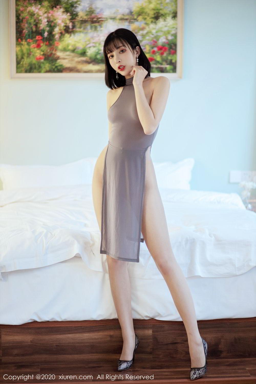[XiuRen] Vol.2022 Chen Xiao Miao 3P, Chen Xiao Miao, Cheongsam, Tall, Xiuren