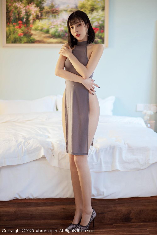 [XiuRen] Vol.2022 Chen Xiao Miao 4P, Chen Xiao Miao, Cheongsam, Tall, Xiuren