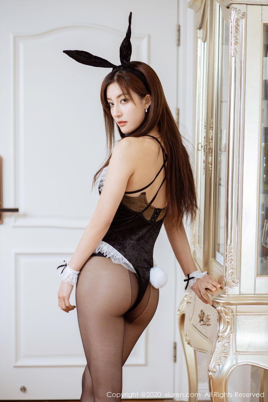 [XiuRen] Vol.2035 Lin Wen Wen 20P, Black Silk, Lin Wen Wen, Tall, Xiuren