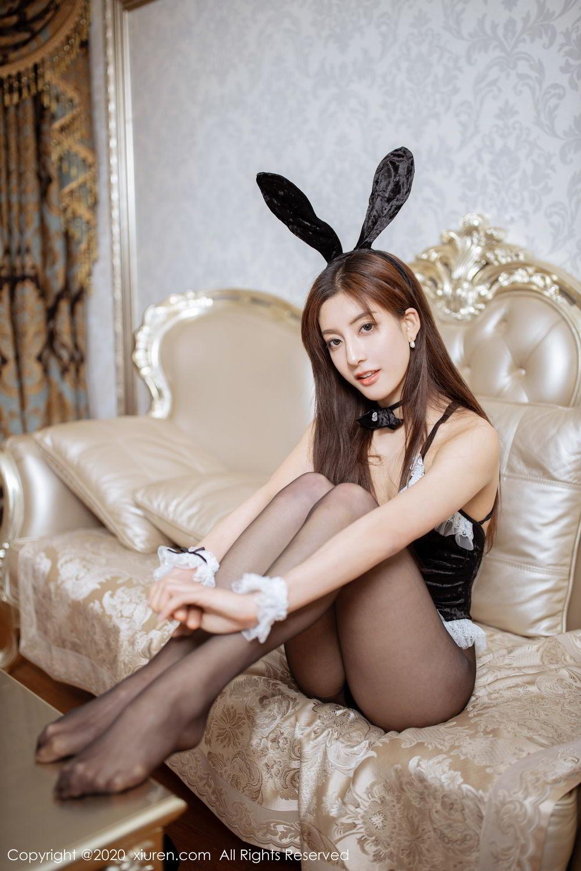 [XiuRen] Vol.2035 Lin Wen Wen 50P, Black Silk, Lin Wen Wen, Tall, Xiuren