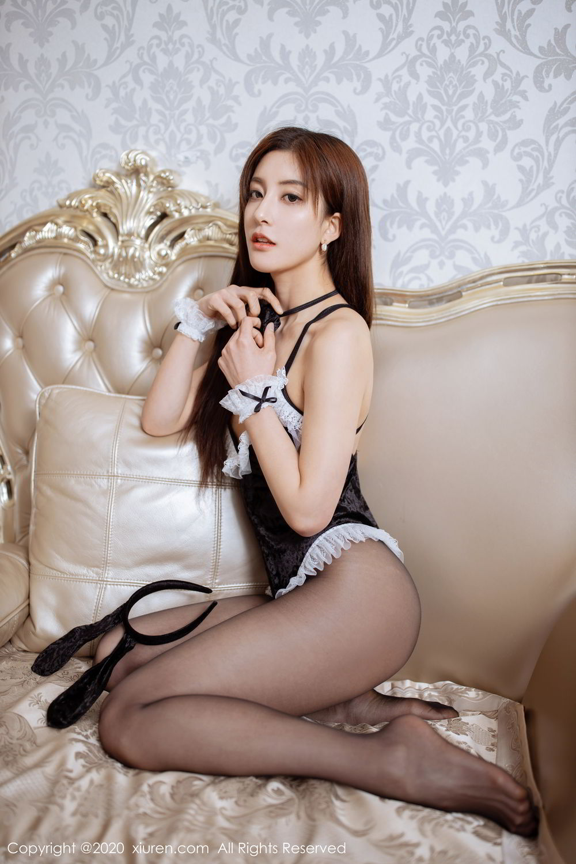 [XiuRen] Vol.2035 Lin Wen Wen 58P, Black Silk, Lin Wen Wen, Tall, Xiuren