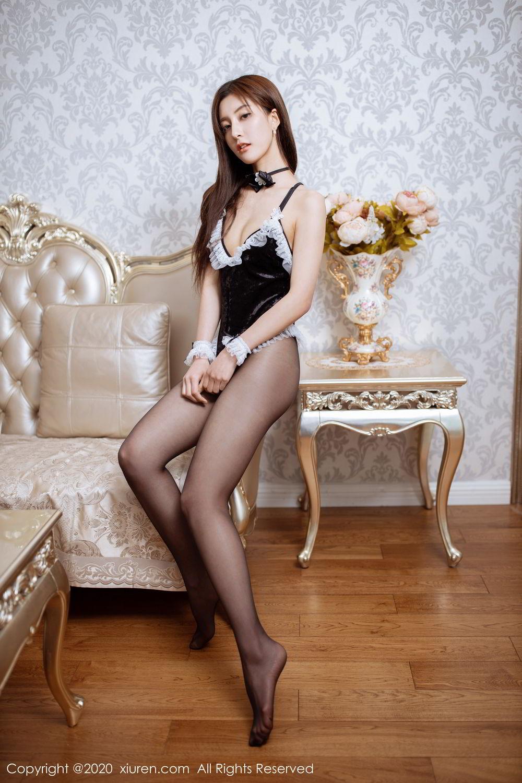 [XiuRen] Vol.2035 Lin Wen Wen 61P, Black Silk, Lin Wen Wen, Tall, Xiuren