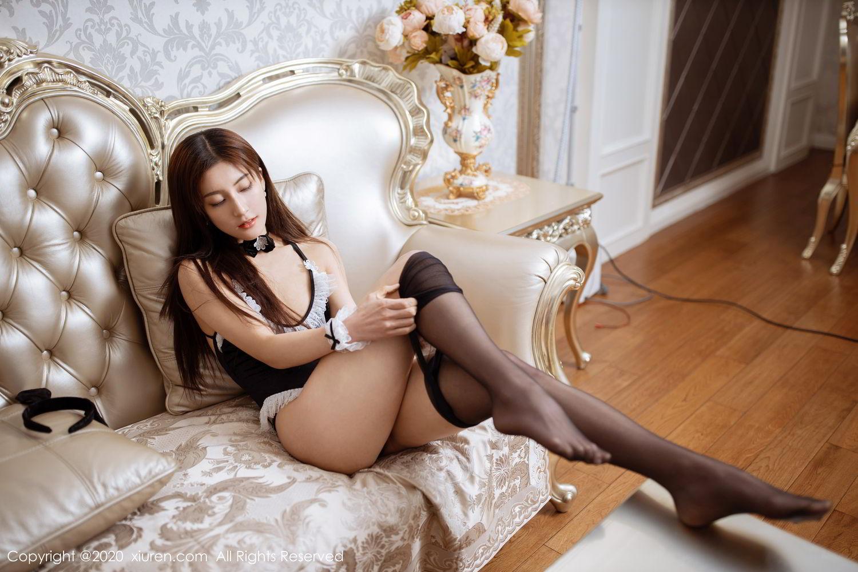 [XiuRen] Vol.2035 Lin Wen Wen 65P, Black Silk, Lin Wen Wen, Tall, Xiuren