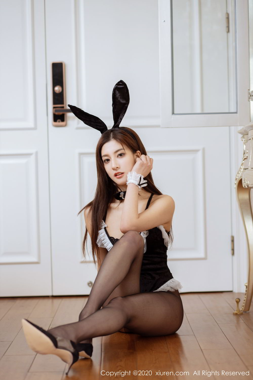 [XiuRen] Vol.2035 Lin Wen Wen 7P, Black Silk, Lin Wen Wen, Tall, Xiuren