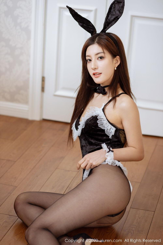 [XiuRen] Vol.2035 Lin Wen Wen 8P, Black Silk, Lin Wen Wen, Tall, Xiuren