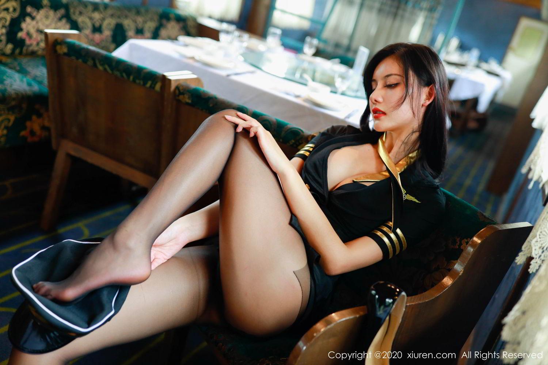 [XiuRen] Vol.2036 Jiu Shi A Zhu 18P, Black Silk, Jiu Shi A Zhu, Uniform, Xiuren