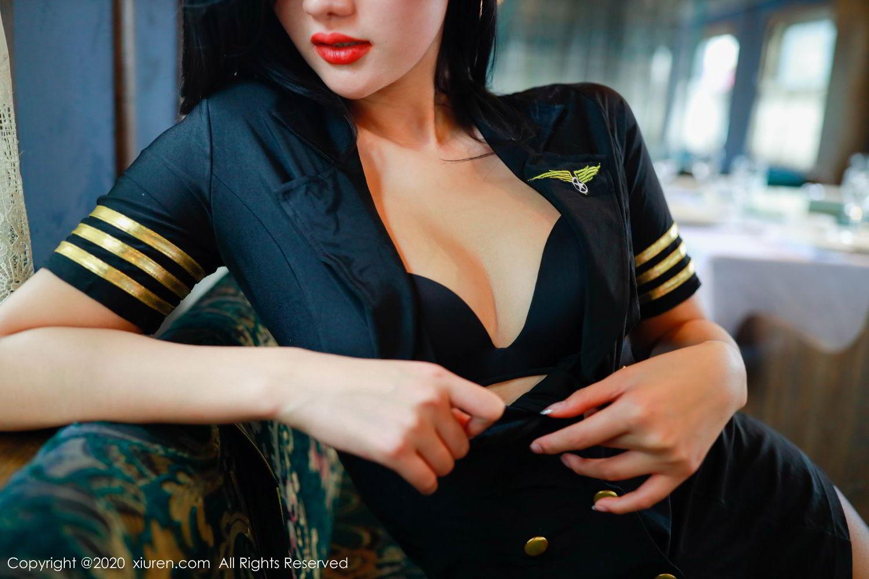 [XiuRen] Vol.2036 Jiu Shi A Zhu 28P, Black Silk, Jiu Shi A Zhu, Uniform, Xiuren