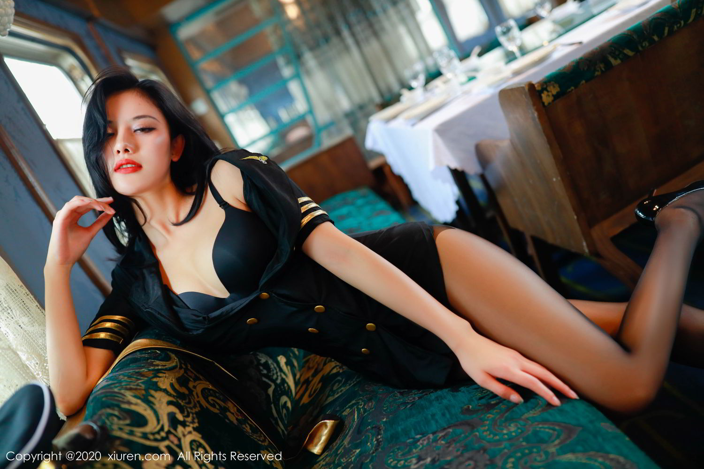 [XiuRen] Vol.2036 Jiu Shi A Zhu 30P, Black Silk, Jiu Shi A Zhu, Uniform, Xiuren