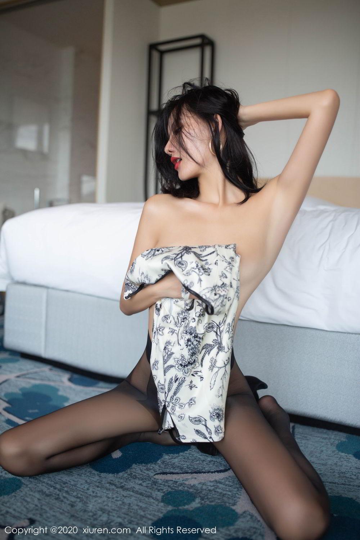 [XiuRen] Vol.2043 Jiu Shi A Zhu 56P, Black Silk, Cheongsam, Jiu Shi A Zhu, Tall, Xiuren