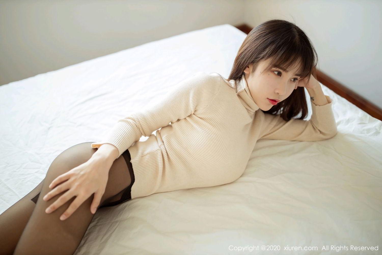 [XiuRen] Vol.2044 You You Jiang 11P, Black Silk, Underwear, Xiuren, You You Jiang