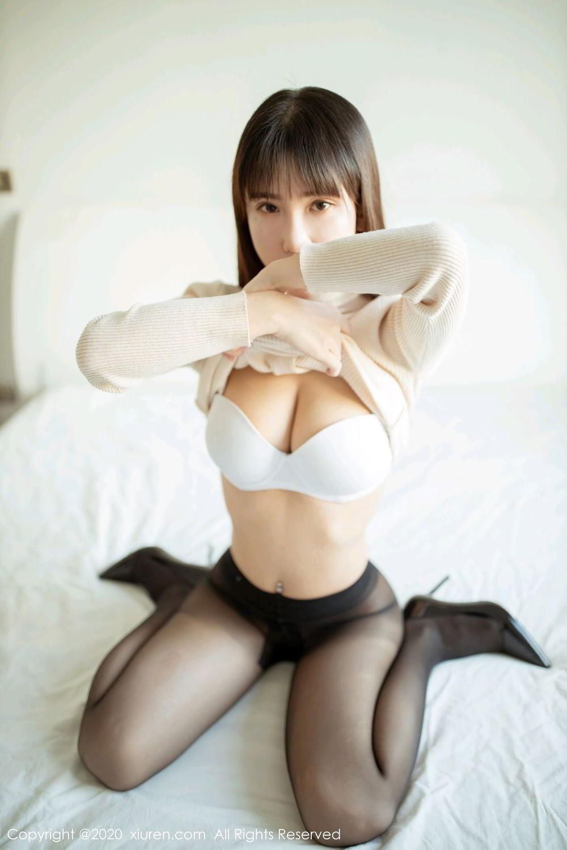 [XiuRen] Vol.2044 You You Jiang 13P, Black Silk, Underwear, Xiuren, You You Jiang