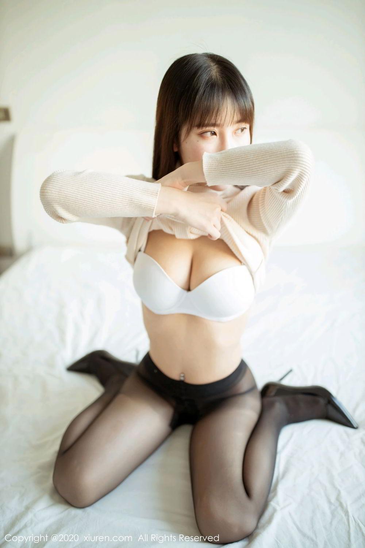 [XiuRen] Vol.2044 You You Jiang 15P, Black Silk, Underwear, Xiuren, You You Jiang