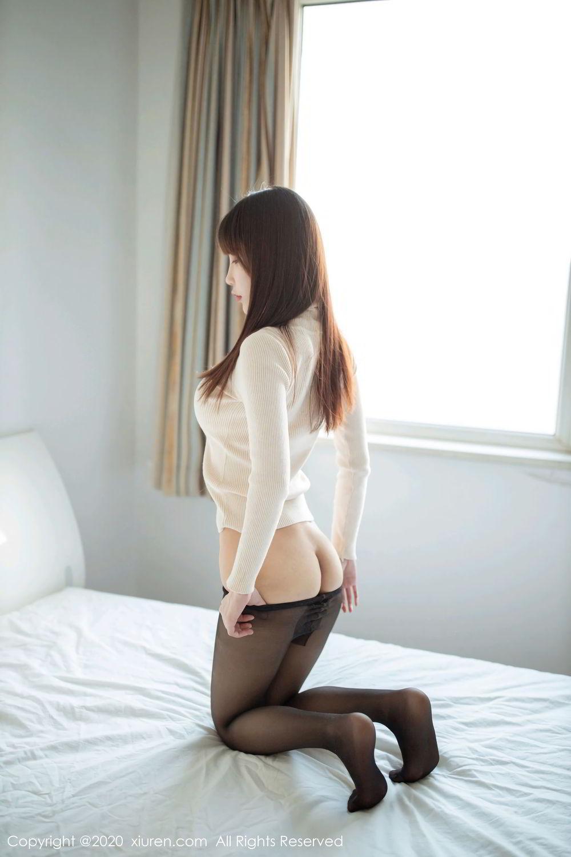 [XiuRen] Vol.2044 You You Jiang 19P, Black Silk, Underwear, Xiuren, You You Jiang