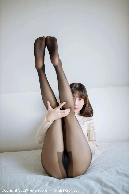 [XiuRen] Vol.2044 You You Jiang 1P, Black Silk, Underwear, Xiuren, You You Jiang