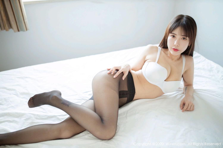 [XiuRen] Vol.2044 You You Jiang 22P, Black Silk, Underwear, Xiuren, You You Jiang