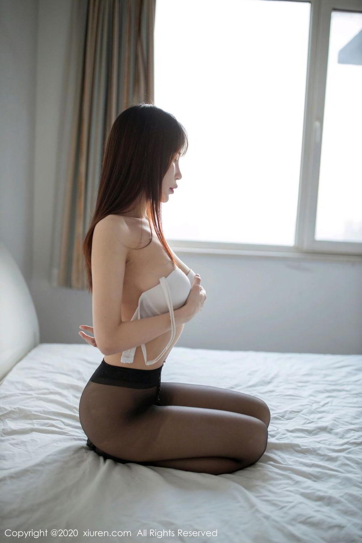 [XiuRen] Vol.2044 You You Jiang 24P, Black Silk, Underwear, Xiuren, You You Jiang