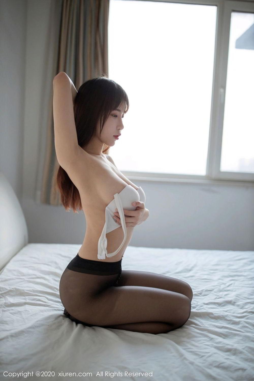 [XiuRen] Vol.2044 You You Jiang 25P, Black Silk, Underwear, Xiuren, You You Jiang