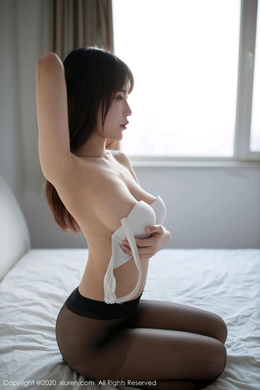 [XiuRen] Vol.2044 You You Jiang 26P, Black Silk, Underwear, Xiuren, You You Jiang