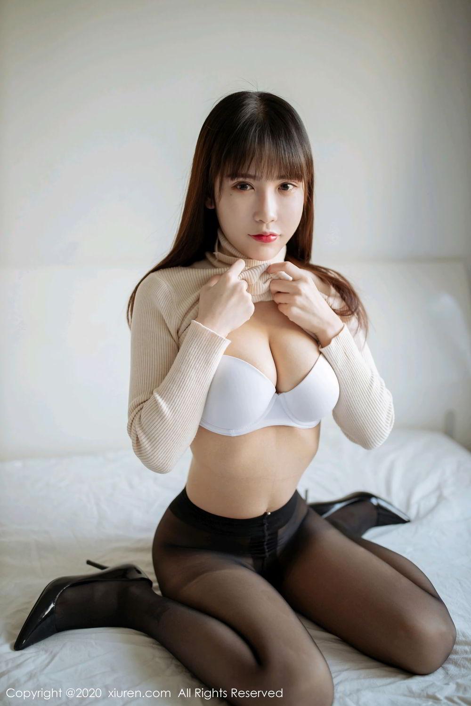[XiuRen] Vol.2044 You You Jiang 2P, Black Silk, Underwear, Xiuren, You You Jiang