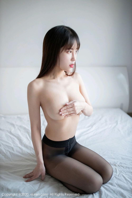 [XiuRen] Vol.2044 You You Jiang 30P, Black Silk, Underwear, Xiuren, You You Jiang