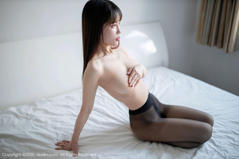 [XiuRen] Vol.2044 You You Jiang 31P, Black Silk, Underwear, Xiuren, You You Jiang