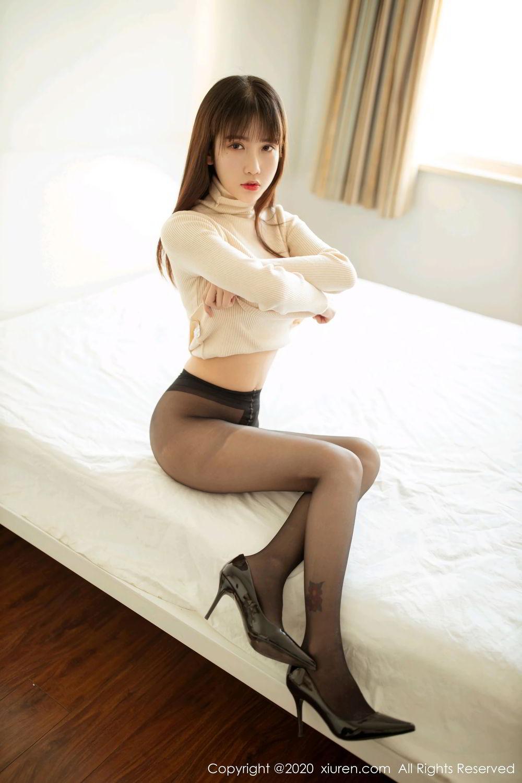 [XiuRen] Vol.2044 You You Jiang 5P, Black Silk, Underwear, Xiuren, You You Jiang