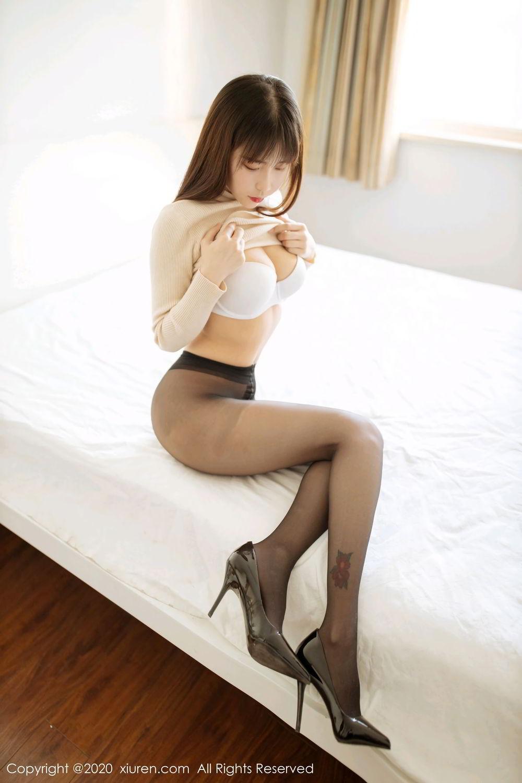 [XiuRen] Vol.2044 You You Jiang 6P, Black Silk, Underwear, Xiuren, You You Jiang