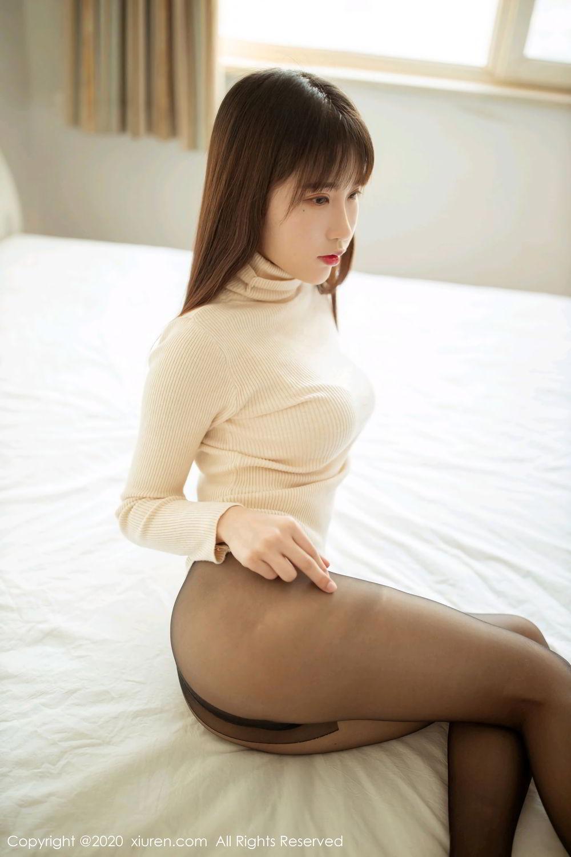 [XiuRen] Vol.2044 You You Jiang 8P, Black Silk, Underwear, Xiuren, You You Jiang