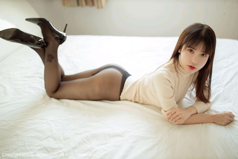 [XiuRen] Vol.2044 You You Jiang 9P, Black Silk, Underwear, Xiuren, You You Jiang