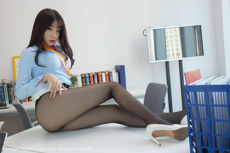 [XiuRen] Vol.2047 Chen Zhi 16P, Black Silk, Chen Zhi, Underwear, Uniform, Xiuren