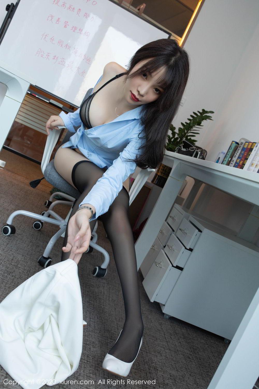 [XiuRen] Vol.2047 Chen Zhi 46P, Black Silk, Chen Zhi, Underwear, Uniform, Xiuren