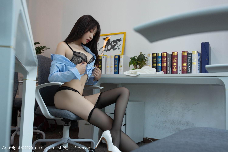 [XiuRen] Vol.2047 Chen Zhi 4P, Black Silk, Chen Zhi, Underwear, Uniform, Xiuren