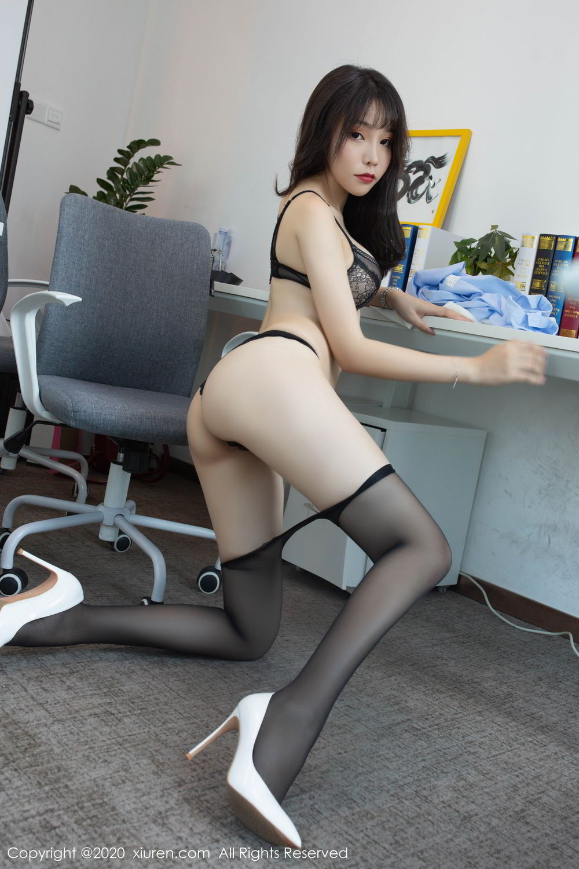 [XiuRen] Vol.2047 Chen Zhi 55P, Black Silk, Chen Zhi, Underwear, Uniform, Xiuren